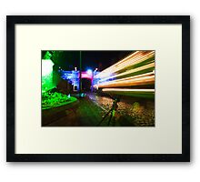 Spooky Night at Crich Framed Print
