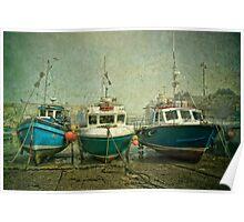 Boats at Newquay Poster