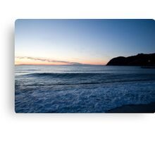 Levanto Beach sunset Canvas Print