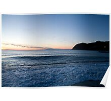 Levanto Beach sunset Poster