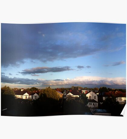 Cloudy skies Poster