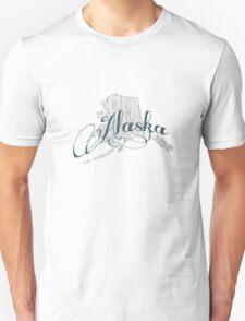Alaska State Typography T-Shirt