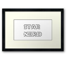 STAR NERD Framed Print