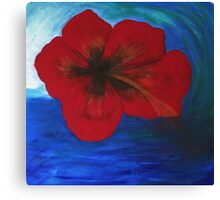 Surfing Aloha Hibiscus Flower by LindaGLarsenArt Canvas Print