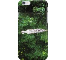 Alligator In The Middle iPhone Case/Skin