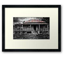 2 Far Gone - mono Framed Print