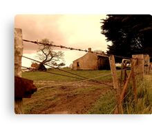 behind the barbwire Canvas Print
