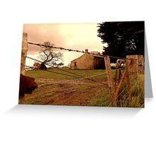 behind the barbwire Greeting Card