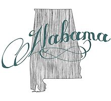 Alabama State Typography by surgedesigns