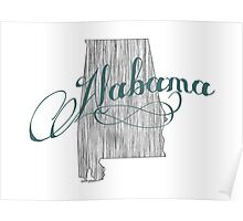 Alabama State Typography Poster
