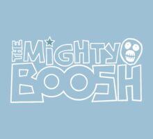 The Mighty Boosh – White Stencilled Writing & Mask Kids Tee
