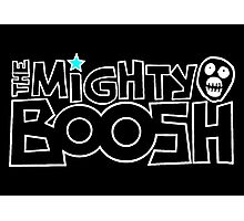 The Mighty Boosh – White Stencilled Writing & Mask Photographic Print