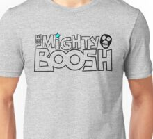The Mighty Boosh – Black Stencilled Writing & Mask Unisex T-Shirt