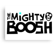 The Mighty Boosh – Black Writing & Mask Canvas Print