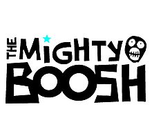 The Mighty Boosh – Black Writing & Mask Photographic Print
