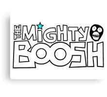 The Mighty Boosh – Black Stencilled Writing & Mask Canvas Print