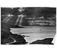Storm Light on North Uist 03 - Isle of Skye, Scotland Poster