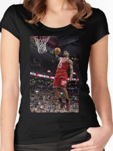 Lebron James Miami Heat Women's Fitted Scoop T-Shirt