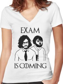 Exam is coming Women's Fitted V-Neck T-Shirt