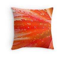 Succulent peach (Fractalius) Throw Pillow