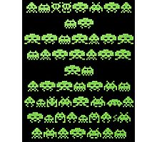Space Invaders Green Goop Photographic Print