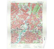 USGS Topo Map Maryland Washington East 256978 1965 24000 Poster