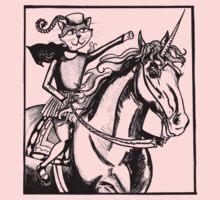 renaissance cat rides a unicorn Kids Clothes