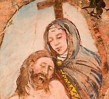 Religious painting on wall in Monterosso al Mar by Ian Middleton