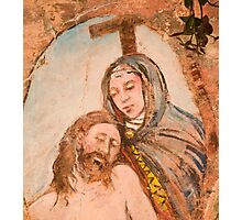 Religious painting on wall in Monterosso al Mar Photographic Print