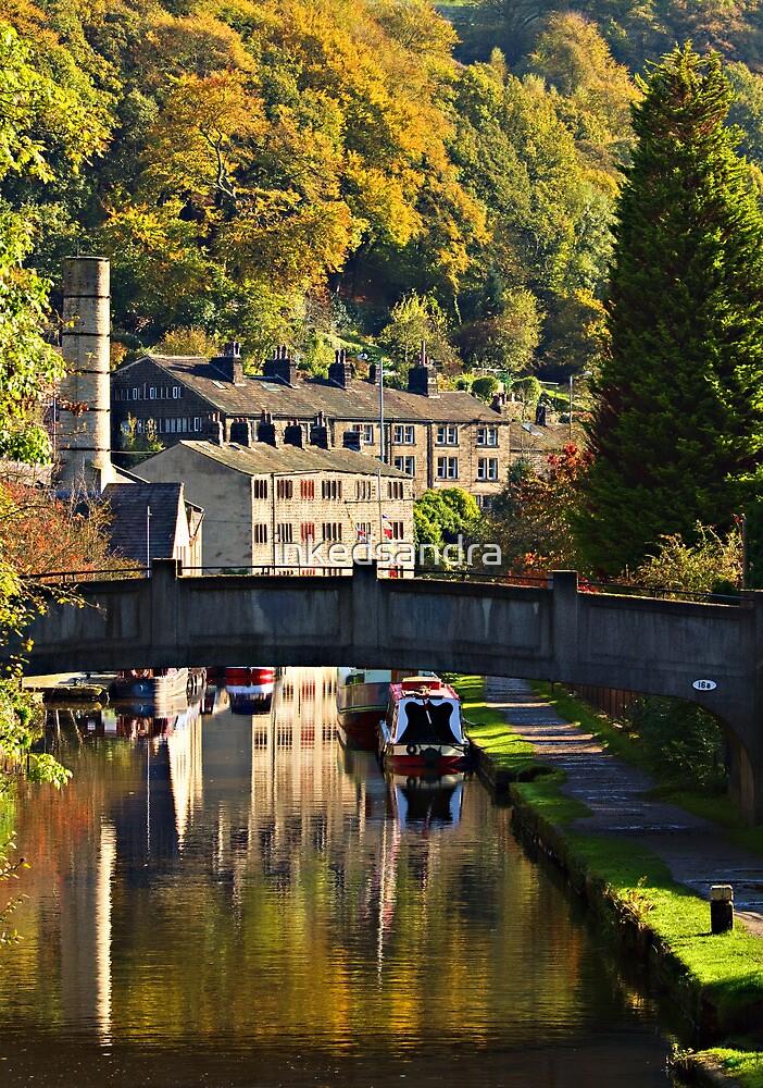 Hebden Bridge in Autumn by inkedsandra