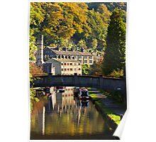 Hebden Bridge in Autumn Poster