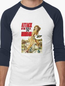 Attack of the 50 ft Woman Men's Baseball ¾ T-Shirt