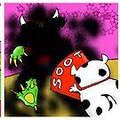 Kid Monsta Triptych 10 by Kev Moore