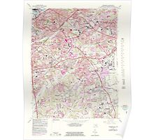 USGS Topo Map District of Columbia DC Anacostia 255997 1965 24000 Poster