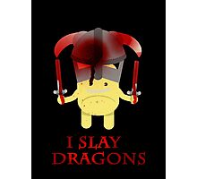 I Slay Dragons! Photographic Print