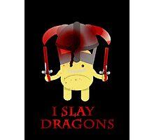 I Slay Dragons! Photographic Print