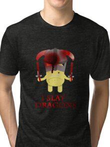 I Slay Dragons! Tri-blend T-Shirt