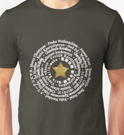 Merry Christmas Different Languages - White design Unisex T-Shirt
