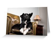 The King on his throne Greeting Card