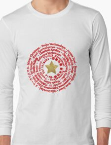 Merry Christmas in Different Languages Long Sleeve T-Shirt
