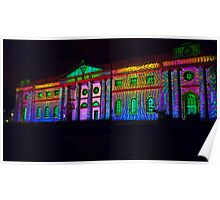 Psychedelic York illuminations Poster