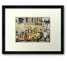 Traditional Ice-cream van on the Barbican, Plymouth Framed Print
