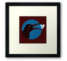 Magpie's Winter Heart Framed Print