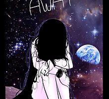 Anime Sad girl gone away on the Moon by sunluvr