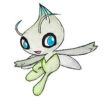 Celebi Pokemon  Photographic Print