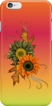 Autumn Flowers .. iphone case by LoneAngel