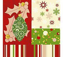Modern Christmas, Modern holiday art Photographic Print