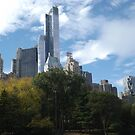 The One57 Skyscraper Dominates the Central Park South Skyline  by lenspiro