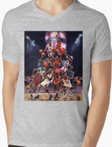 Michael Jordan career timeline  Mens V-Neck T-Shirt