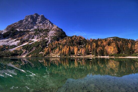 Reflection in the Seebensee by Stefan Trenker